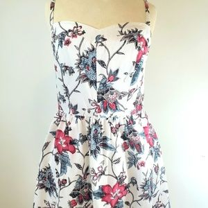 LOFT floral summer dress Sz2 petite